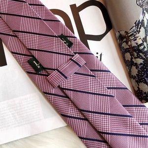 Lauren Ralph Lauren Accessories - Lauren Ralph Lauren Pink Navy Plaid Silk Necktie